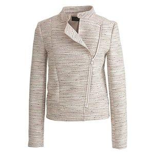J.Crew Asymmetrical Zip Jacket Pink Pepper Tweed 6